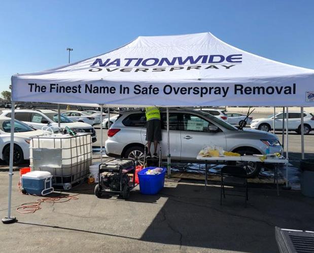 nationwide overspray dallas nationwide overspray tent