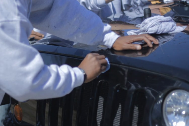 nationwide overspray dallas detailing a jeep wrangler